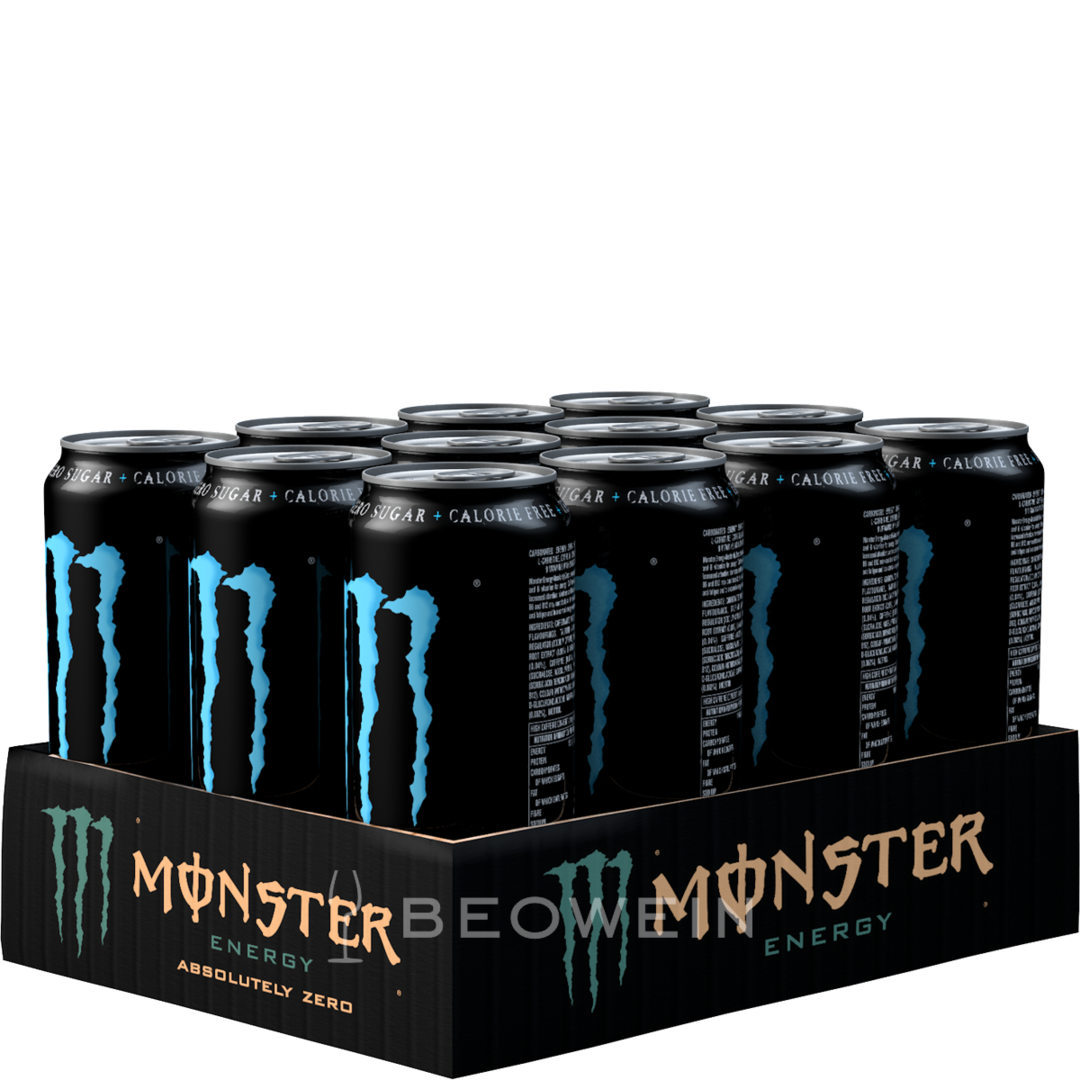 monster energy absolutely zero 12x0 5 l kaufen bei beowein. Black Bedroom Furniture Sets. Home Design Ideas
